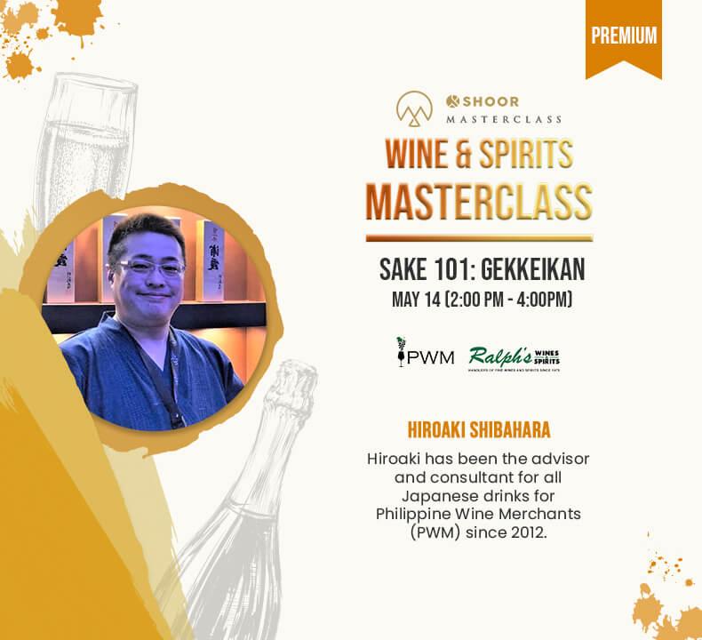 Hiroaki Shibahara for Wine and Spirits Masterclass about Sake 101 Gekkeikan