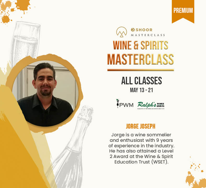 Jorge Joseph for Wine and Spirits Masterclass