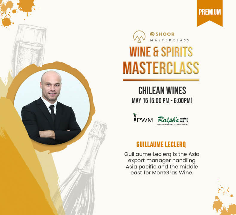 Guillaume Leclerq for Wine and Spirits Masterclass about Chilean Wines