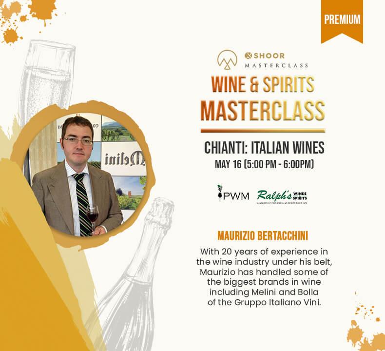 Maurizio Bertacchini for Wine and Spirits Masterclass about Chianti Italian Wines