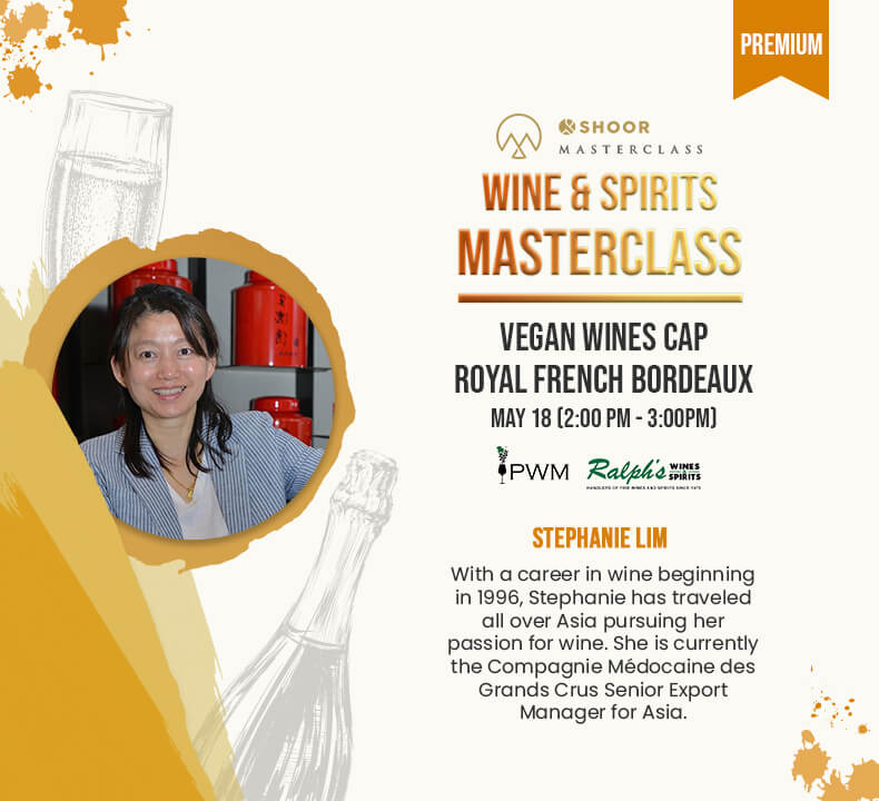 Stephanie Lim for Wine and Spirits Masterclass about Vegan Wines Cap Royal French Bordeaux
