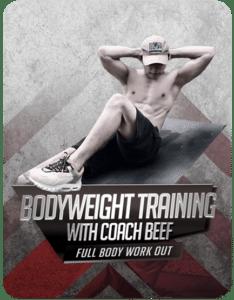 Coach teaching for bodyweight online training