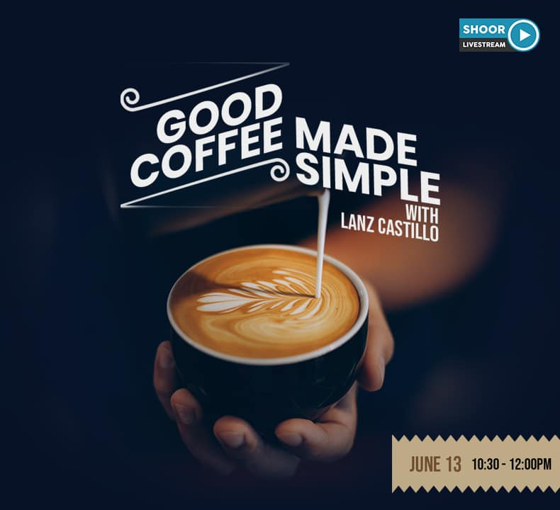 Good Coffee Made Simple with Lanz Castillo for Online Coffee Making Class