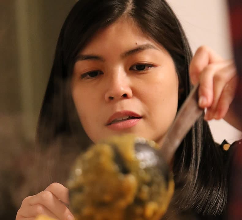 Professional Cook Ally Madamba for Filipino Online Cooking Workshop