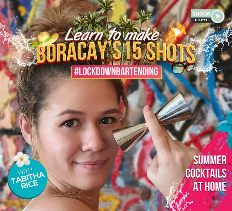 Lockdown Bartending Online Class to Learn to Make Boracay 15 Shots with Tabitha Rice