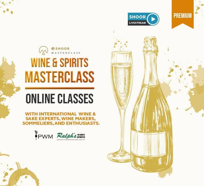 Wine and Spirits Masterclass with International Wine and Sake Experts, Wine Makers, Sommeliers, and Enthusiasts for Shoor Online Masterclass