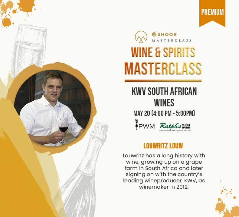 Louwritz Louw for Wine and Spirits Masterclass about KWV South African Wines