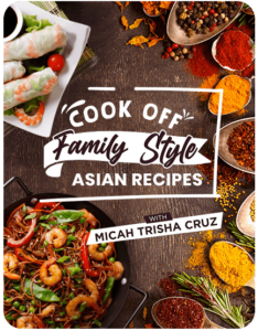 Experience cook off family style Asian recipes with instructor Micha Trisha Cruz