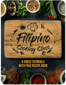 Filipino Online Cooking Workshop with Ally Madamba with 5 Video Tutorials and Free Recipe Book