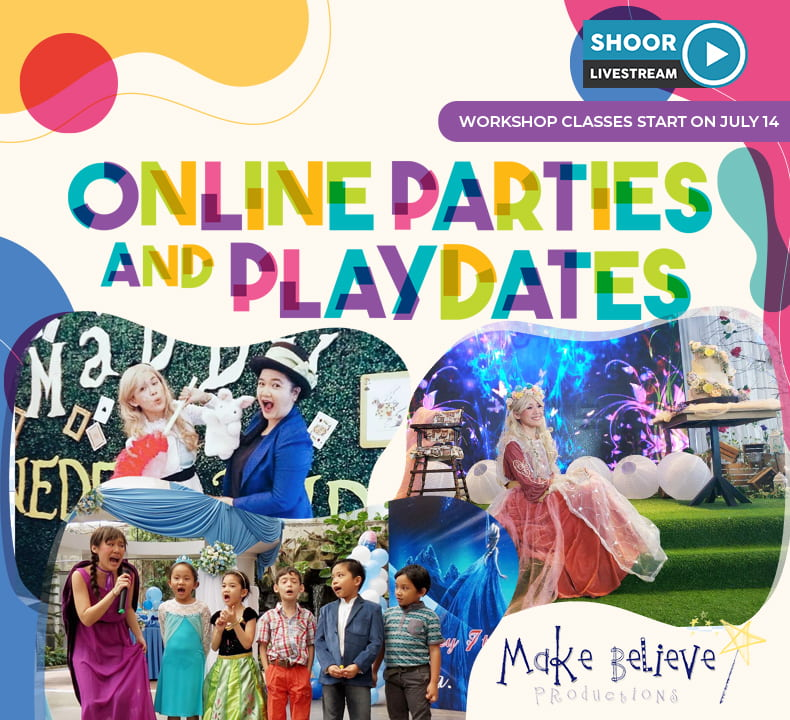 Online Parties and Playdates Workshop Classes with Make Believe Productions