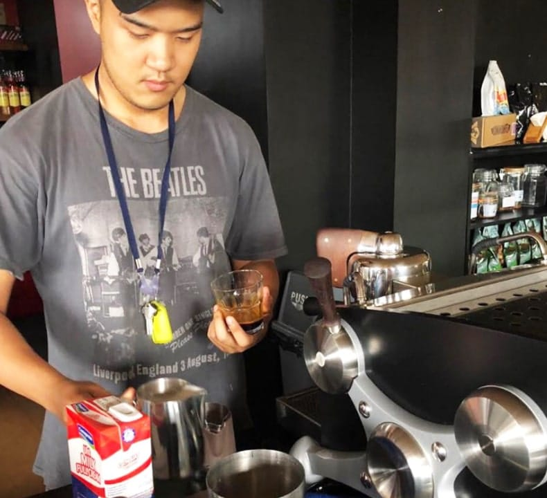 Lanz Castillo of Candid Coffee Tasting
