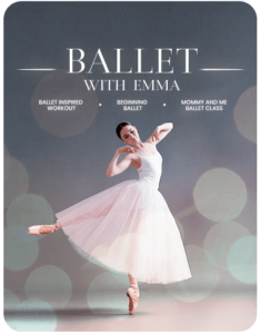 Ballerina in pink dancing for Ballet with Emma