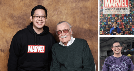 Jiggy Cruz with Stan Lee for a quiz night preseason