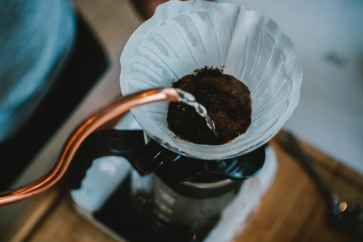 brewing coffee to take a mini break