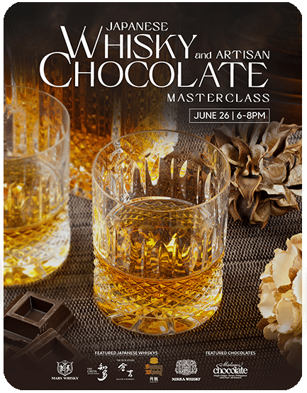 Japanese Whisky and Artisan Chocolate Masterclass