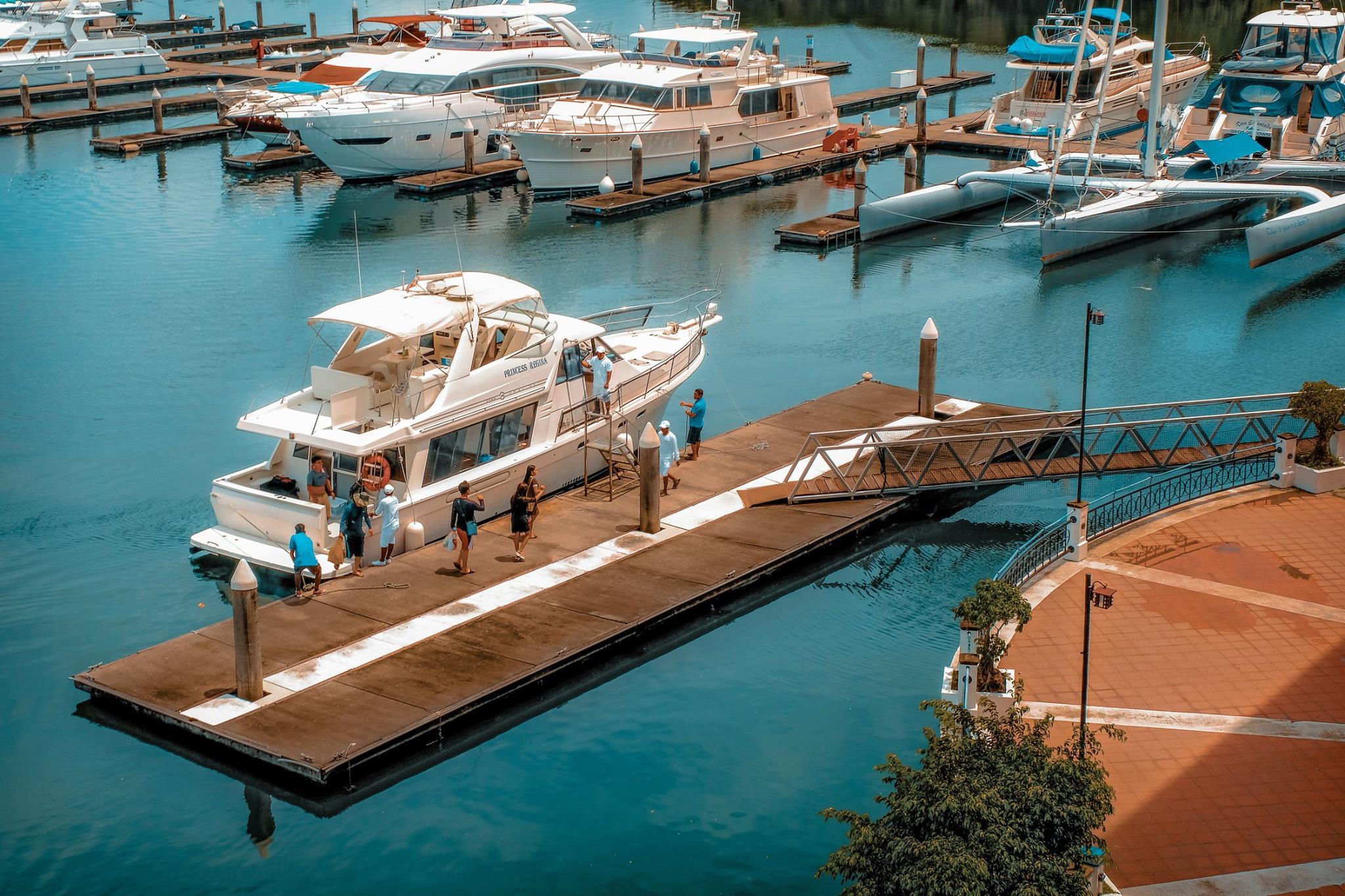Yacht on a dock