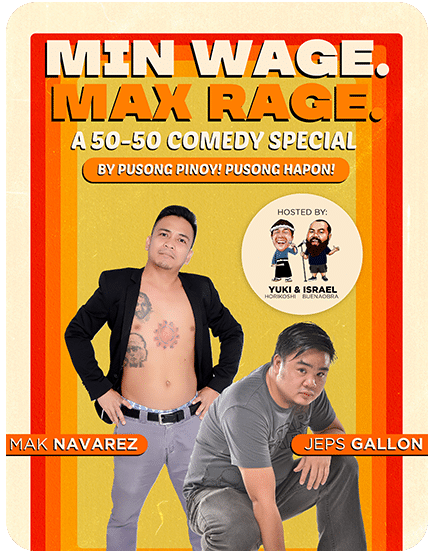 Min Wage. Max Rage. A 50-50 Comedy Special