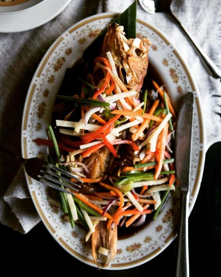 Filipino fried fish dish