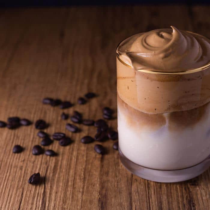 creamy milk and coffee drink