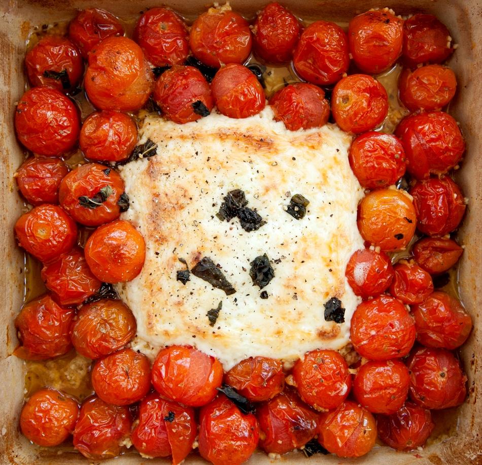 feta cheese and cherry tomatoes